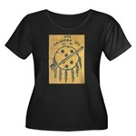 USS OKLA Women's Plus Size Scoop Neck Dark T-Shirt
