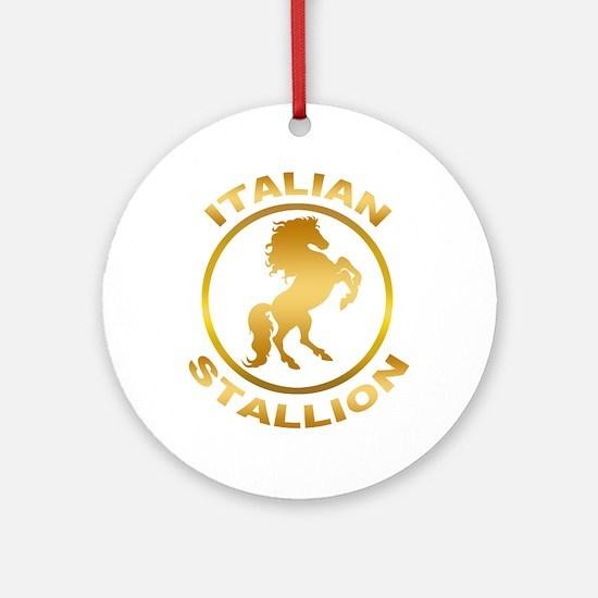 Italian Stallion Ornament (Round)