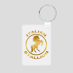 Italian Stallion Aluminum Photo Keychain