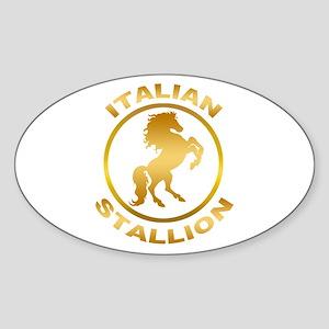 Italian Stallion Sticker (Oval)