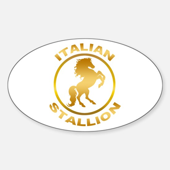 Italian Stallion Sticker (Oval)