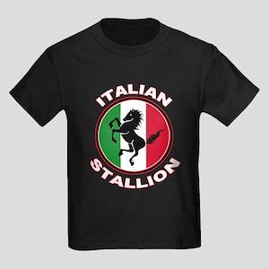 Italian Stallion Kids Dark T-Shirt