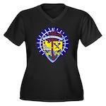 USS ORISKANY Women's Plus Size V-Neck Dark T-Shirt