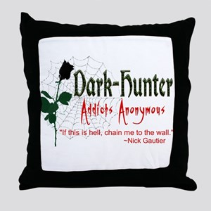 DH Addicts Anonymous Throw Pillow