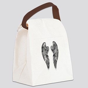 Dark Shaded Angel Wings Canvas Lunch Bag