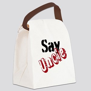 Say Uncle Canvas Lunch Bag