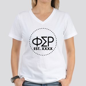 Phi Sigma Rho Circle Women's V-Neck T-Shirt