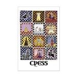 Chess Quilt Mini Poster Print