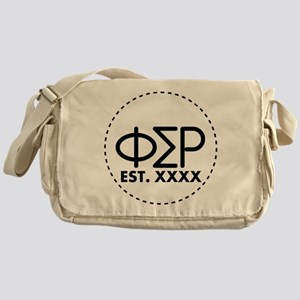 Phi Sigma Rho Circle Messenger Bag