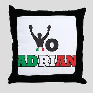 Yo Adrian Throw Pillow