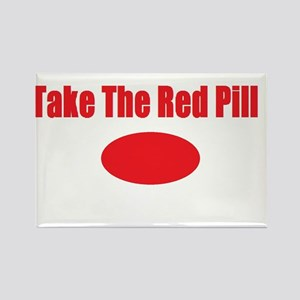 Take The Red Pill Rectangle Magnet