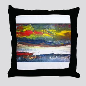 Original Abstract Painting of the River Styx Throw