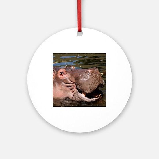 Happy Hippo Ornament (Round)