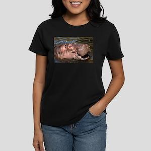 Happy Hippo Women's Dark T-Shirt