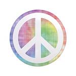 "Tie-Dye Peace Sign 3.5"" Button"