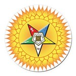 OES In the Sun Round Car Magnet