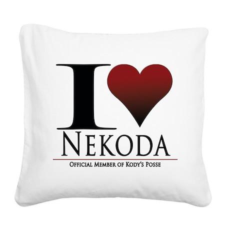 I Heart Kody Square Canvas Pillow