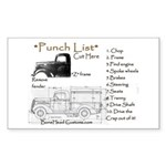 punch list Sticker (Rectangle 10 pk)