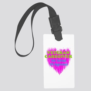 Veteran Caregiver Heart 2.0 Large Luggage Tag