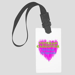 Veteran Caregiver Heart 2.0 Large Luggage Tag