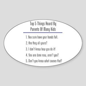Top 5 Heard Oval Sticker