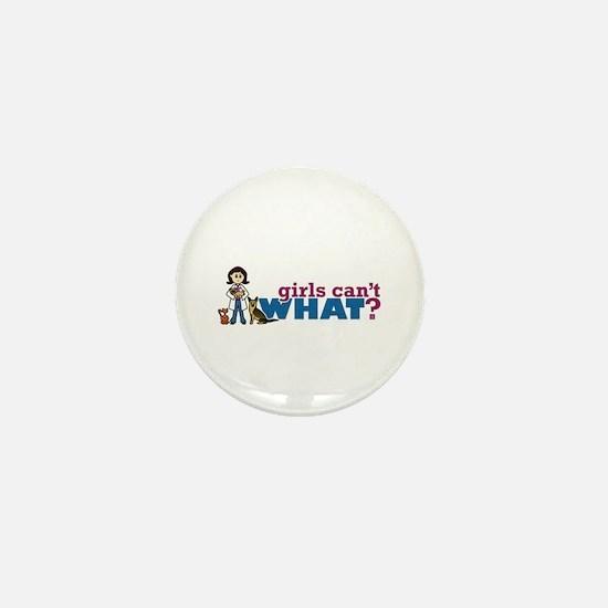 Veterinarian Girl Mini Button