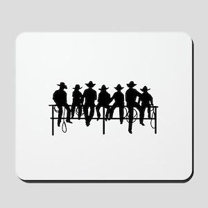 Cowboys on fence Mousepad