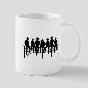 Cowboys on fence Mug