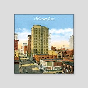 "Vintage Birmingham Square Sticker 3"" x 3"""