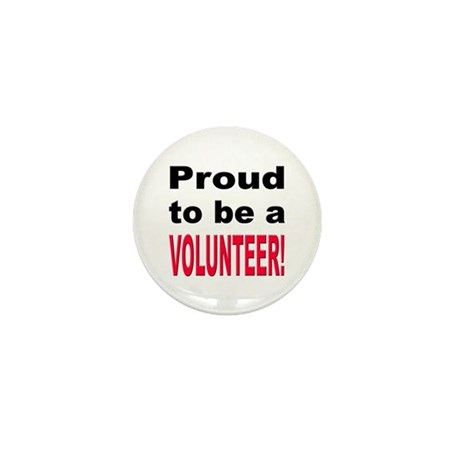 Proud Volunteer Mini Button
