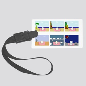 Vacation Large Luggage Tag