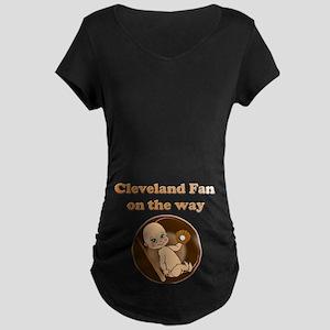 Cleveland Fan on the way Maternity Dark T-Shirt