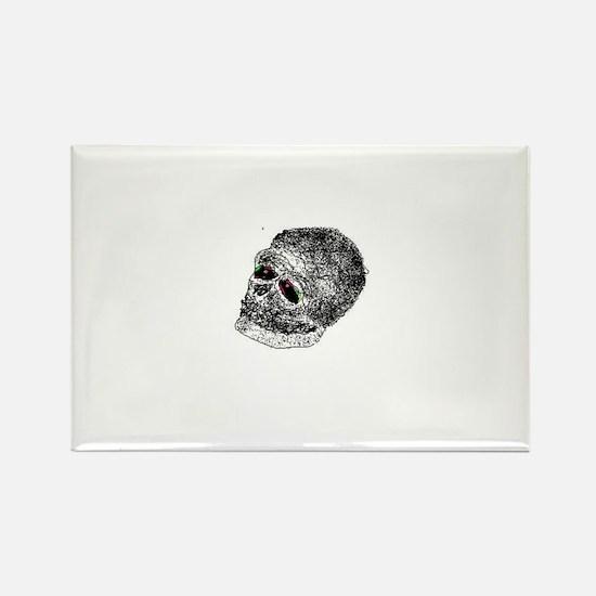 skullie Rectangle Magnet
