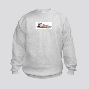 Lounging Bulldog Kids Sweatshirt
