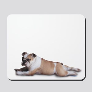 Lounging Bulldog Mousepad