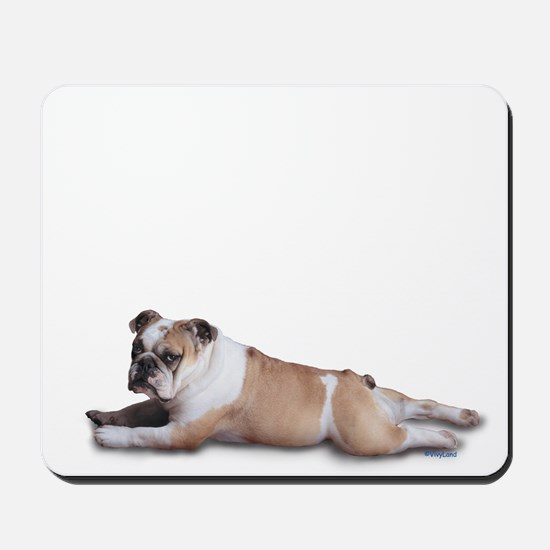 Lounging Bulldog Mousepad