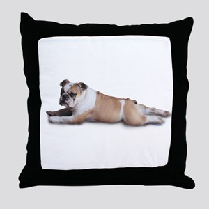 Lounging Bulldog Throw Pillow