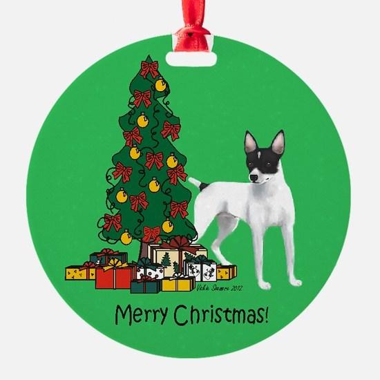 Rat Terrier Round Christmas Ornament