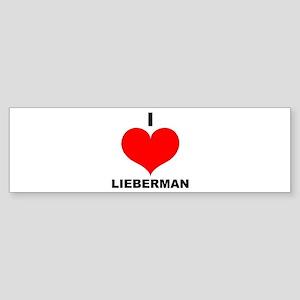 I Love Lieberman Bumper Sticker