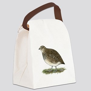 Coturnix Quail Hen Canvas Lunch Bag
