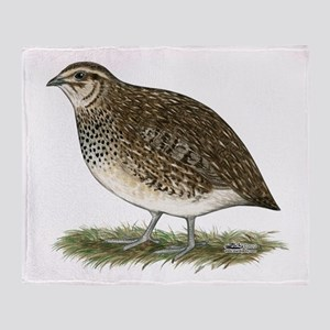 Coturnix Quail Hen Throw Blanket