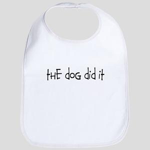 the dog did it Bib