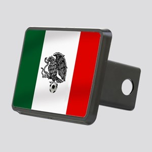 Mexican Soccer Flag Rectangular Hitch Cover