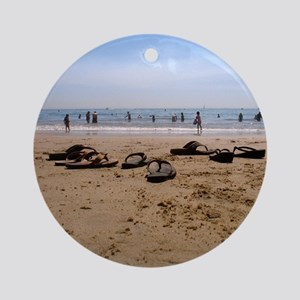Sand and Sandals Ornament (Round)