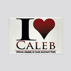 I Heart Caleb Rectangle Magnet