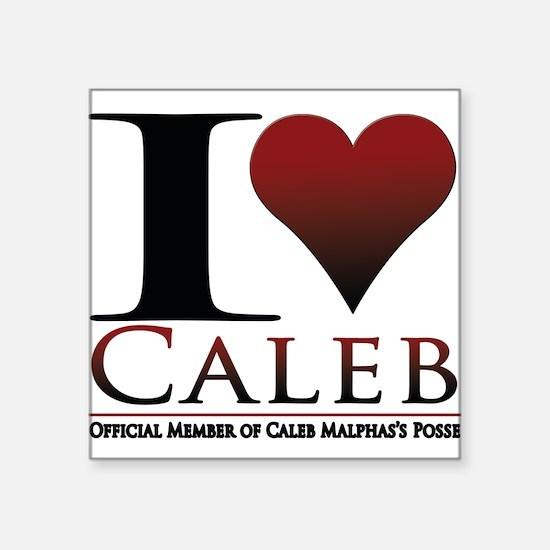 """I Heart Caleb Square Sticker 3"""" x 3"""""""