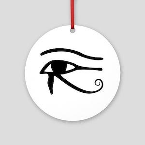 Eye Of Horus Ornament (Round)