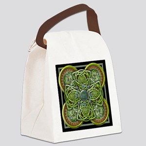 Green Celtic Tapestry Canvas Lunch Bag