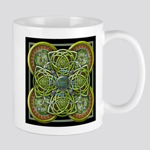 Green Celtic Tapestry Mug