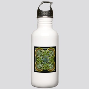 Green Celtic Tapestry Stainless Water Bottle 1.0L